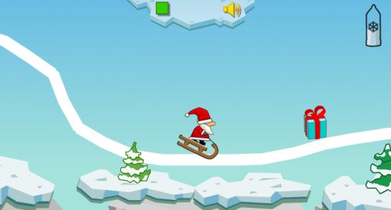 jeux du pere noel Le jeu du Père Noël en luge, pour cette journée de Noël jeux du pere noel